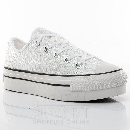 zapatillas tipo converse mujer plataforma