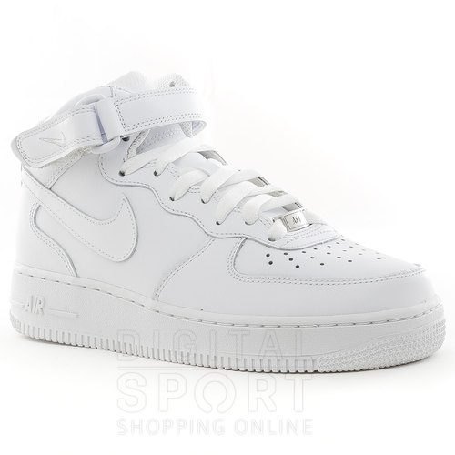 air force 1 mid mujer blancas