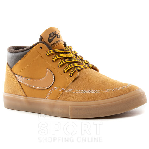 Botitas Sb Portmore Ii Solarsoft Mid En Zapatillas Nike