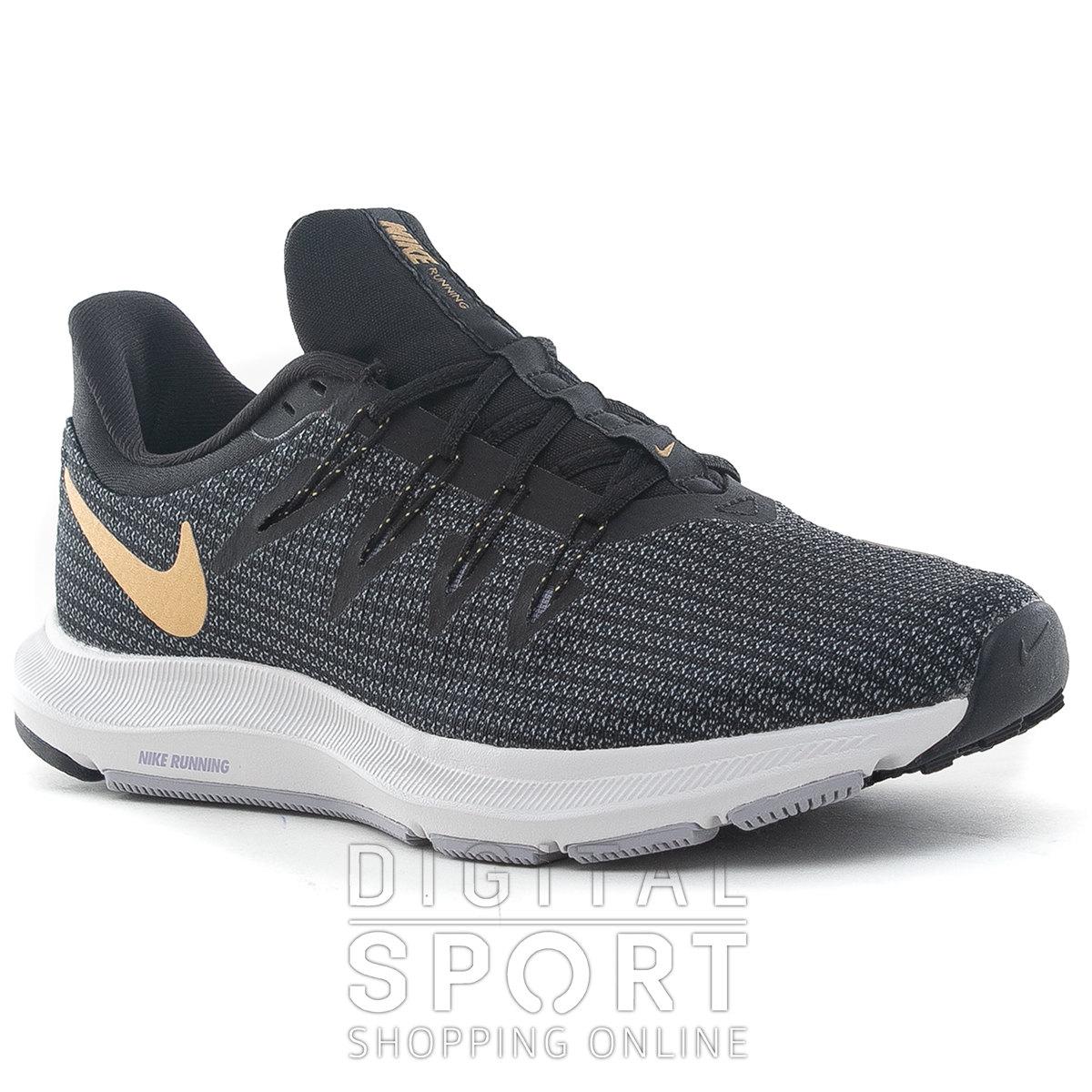 Zapatillas Running Nike Mexico Negras Azules Plateadas