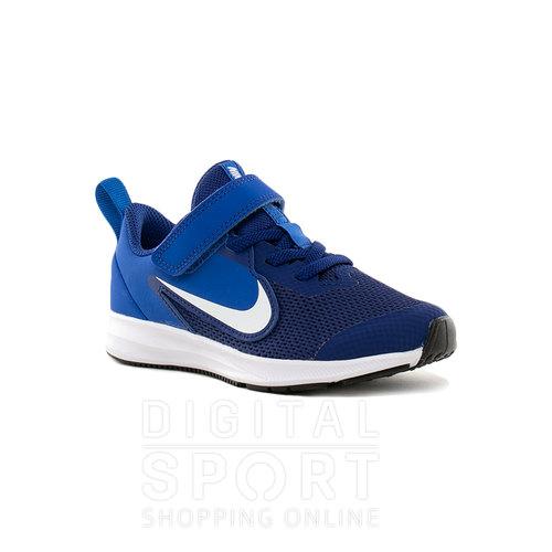 Selección larga Nike Downshifter 7 Gs Negro Blanco